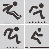 Long jump icons Royalty Free Stock Photo