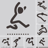 Long jump  icons Royalty Free Stock Photography