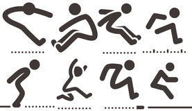 Long jump  icons Stock Photo