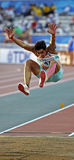Long jump india sharma Royalty Free Stock Photo