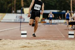 Long jump men athlete Royalty Free Stock Images