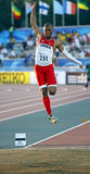 Long jump men canada stewart bronze Stock Photo