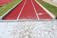 Long Jump Pit Stock Photography