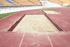 Long jump pit Royalty Free Stock Photos