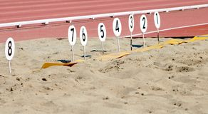 Long Jump Pit Royalty Free Stock Photo