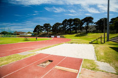 Free Long Jump Sand Pit On Running Track Royalty Free Stock Photo - 77888085