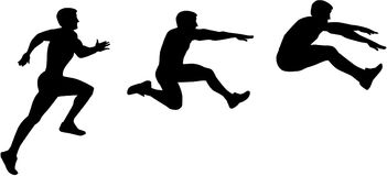 Long Jump sequence. Training vector Stock Image