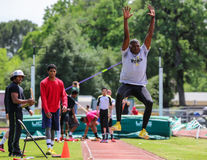 Long Jump Stretch Royalty Free Stock Images