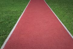 Long jump track athletics stadium. Sport Background. Stock Photography