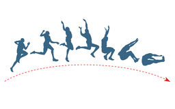 Free Long Jump Trajectory Royalty Free Stock Photos - 26920138
