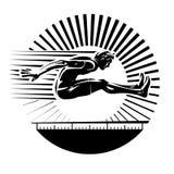 Long jump.  Royalty Free Stock Images