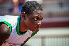 Long jumper, Special Olympics World Games 2015 Royalty Free Stock Images