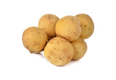 Long Kong or Long Gong fruit on white Royalty Free Stock Images
