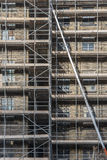 Long ladder on scaffolding Stock Photography