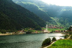 Long Lake In Trabzon Stock Photo