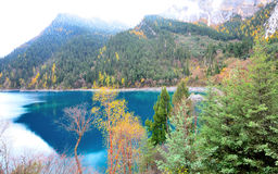 Long lake, Jiuzhaigou. Long lake is the longest lake of Jiuzhaigou in China Stock Photography