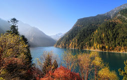 Long Lake at the Jiuzhaigou National Park in Sichuan, China Royalty Free Stock Photos