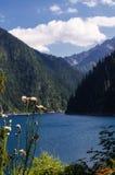 Lake mountain landscape. In chang lake jiuzaigou,china in summer Royalty Free Stock Image