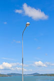 Long lamp post electricity industry Stock Images