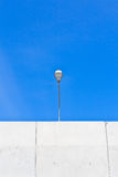Long lamp post electricity industry Royalty Free Stock Photography