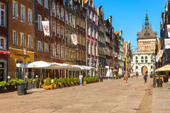 Long Lane and Golden Gate in Gdansk Royalty Free Stock Photography
