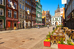 Long Lane and Golden Gate in Gdansk Stock Photo