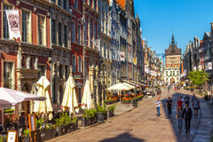 Long Lane and Golden Gate in Gdansk Stock Photography