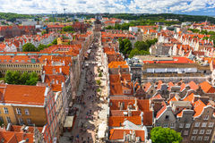 The Long Lane of the old town in Gdansk Royalty Free Stock Image