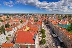 The Long Lane of the old town in Gdansk Stock Image