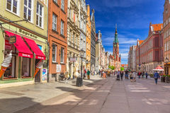 The Long Lane street in old town of Gdansk Royalty Free Stock Photo