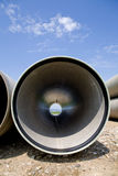 Long large pipe Royalty Free Stock Images