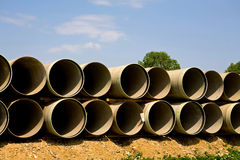 Long large pipes royalty free stock images