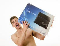 Long last wait, the PS4 is Here Stock Image