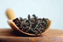 Long leaf black tea before brewing