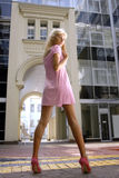 Long-legged blond woman Royalty Free Stock Photos