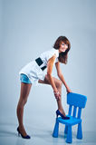 Long-legged model Stock Images