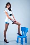 Long-legged model Royalty Free Stock Photo