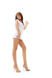 Long Legged Woman Royalty Free Stock Photos