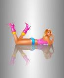Long legs. Illustration,  woman,  girl,  female Royalty Free Stock Photos
