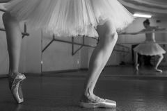 Long legs of ballerina in toeshoe Royalty Free Stock Photo