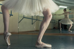 Long legs of ballerina in toeshoe Royalty Free Stock Photography