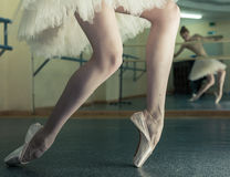 Long legs of ballerina in toeshoe Royalty Free Stock Image