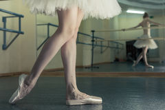 Long legs of ballerina in toeshoe Stock Image