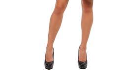 Long legs in high heels Stock Images