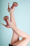 Long Legs on High Heels Royalty Free Stock Photos