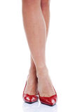 Long legs and red high heels Royalty Free Stock Photo