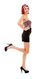 Long legs standing pin up Royalty Free Stock Photo