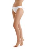 Long legs in white bikini panties Royalty Free Stock Photo