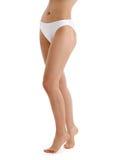 Long legs in white bikini panties Royalty Free Stock Photo