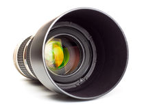Long lens with hood Royalty Free Stock Photography